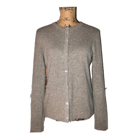 NWOT- Gray Cashmere Button Down Cardigan